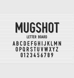 Police mugshot font vector