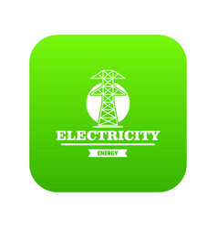power station icon green vector image