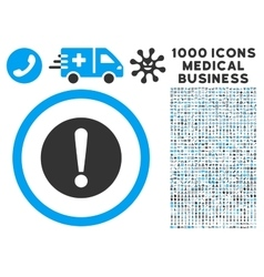 Problem Icon with 1000 Medical Business Pictograms vector