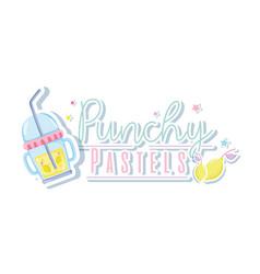 Punchy pastel trendy concept vector