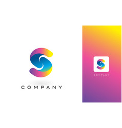 S logo letter with rainbow vibrant beautiful vector