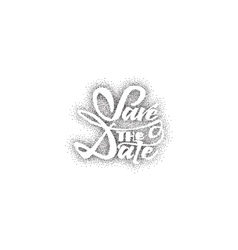 Save the date - dotwork calligraphic lettering vector
