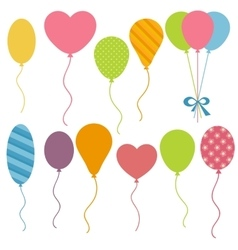 Set of Birthday balloons vector image