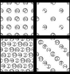 Set of seamless pattern of buttons vector image