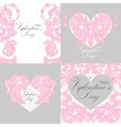 Set of valentines day greeting cards vector image