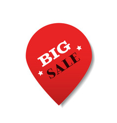 special offer big sale tag promo marketing holiday vector image