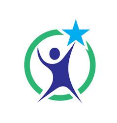 Success star logo designs icons vector