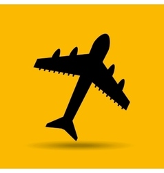 Travel concept transport airport plane button vector