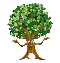 Tree character cartoon vector