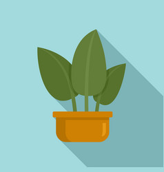tropical leaf houseplant icon flat style vector image