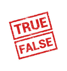 true false stamp icon rubber truth fact or vector image