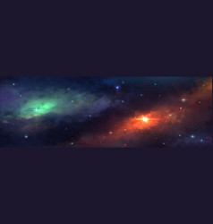 Universe background cosmic view with stars vector