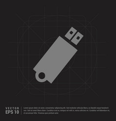 usb icon - black creative background vector image