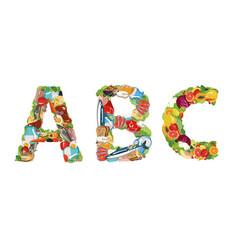 Vitamins - a b c vector