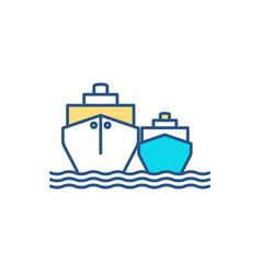 waterborne vessels rgb color icon vector image