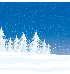 Winter forest and snow vector