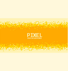Yellow and orange shades pixel background design vector