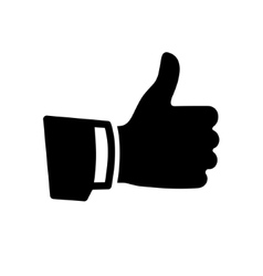 Black Thumb Up Icon vector image vector image