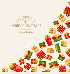 celebrating merry christmas template vector image vector image