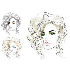 girls head vector image