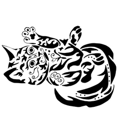 High quality kitty tattoo vector image