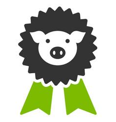 pig award seal flat icon vector image