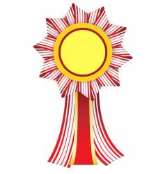 red-white badge with yellow center vector image vector image