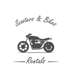 sale and rental of bikes vector image vector image