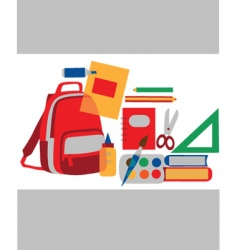 school and class vector image vector image