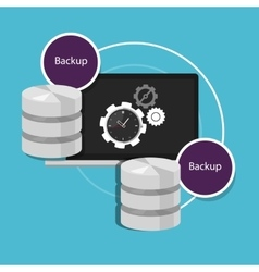 automatic backup database machine data protection vector image vector image