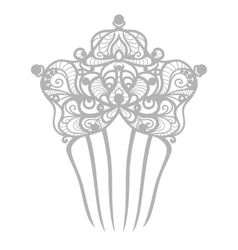 beautiful comb vector image vector image