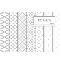 collection of ornamental geometric seamless vector image