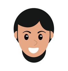 face woman head cartoon vector image
