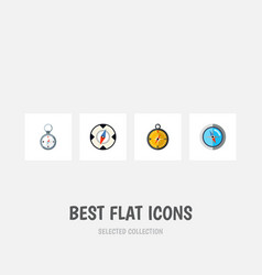 flat icon orientation set of navigation direction vector image vector image
