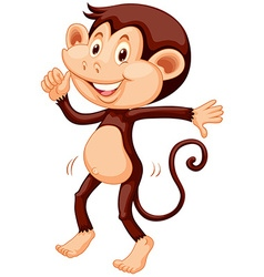 Little monkey dancing alone vector image