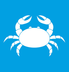 raw crab icon white vector image