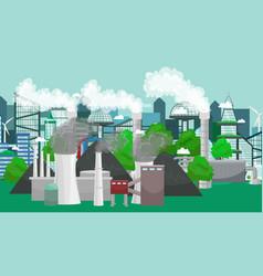 renewable ecology energy icons green city power vector image