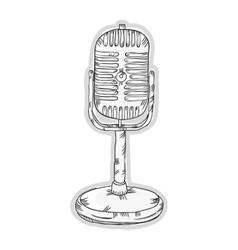 retro radio microphone vector image