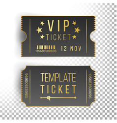 ticket template set invitation coupon vector image