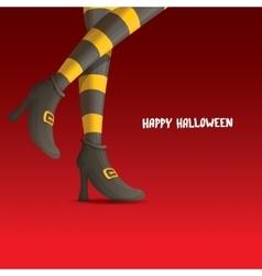 Witch legs halloween background vector