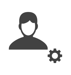 Male Profile Settings vector image vector image