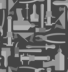 Seamless Construction Hand tools pattern vector image