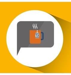 smartphone digital with tea cup hot design vector image vector image