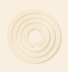 Zen circles design vector image vector image