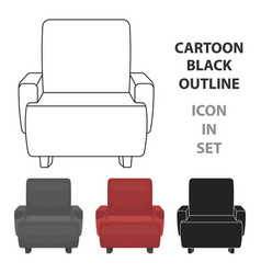 cinema armchair icon in cartoon style isolated on vector image vector image