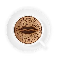 coffee crema 06 vector image vector image