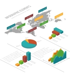 infographic template with 3D isometric vector image
