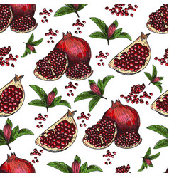 seamless pattern hand drawn sketch style vector image vector image
