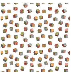 Seamless pattern toy blocks alphabet vector image