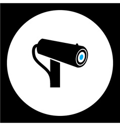 Simple security cam isolated black icon eps10 vector